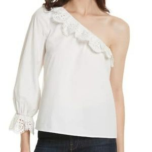 Joie One Arm Ruffled Blouse